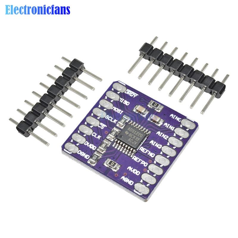 CJMCU-1220 ADS1220 ADC 24 Bit A/D Converter Module I2C Low Power 24 Bit Analog-to-Digital Converter Sensor Module SPI 3V-5V