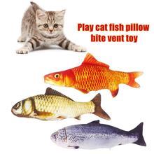 Oreiller en peluche dessin animé carpe   Créatif chat en peluche, poisson en peluche, jouet chat de jeu, accessoires pour animaux de compagnie