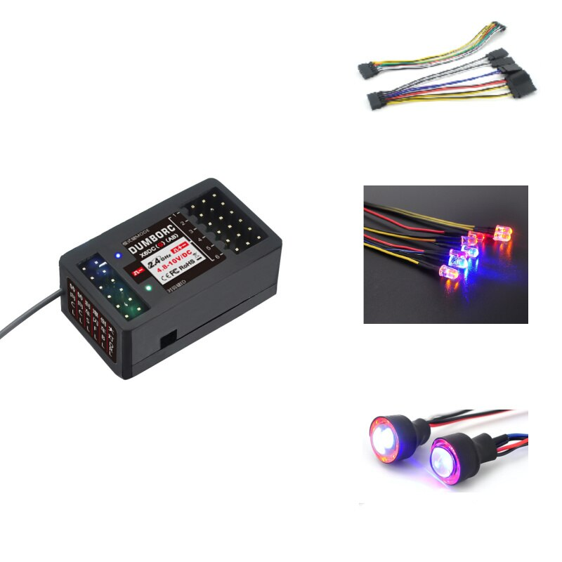 DumboRC 2.4G 6CH X6DC Receiver With Led Strip Light Control Board Module Set for RC Car Night X6 X4
