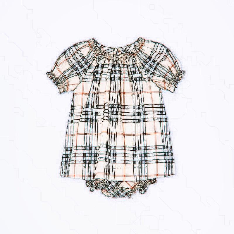 2021 summer new children's cotton British style sub skirt baby dress creeping Suit Girls' striped short sleeve skirt