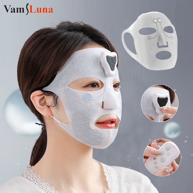 قناع الوجه الإلكترونية أداة ترطيب مكركرنت جهاز للوجه قناع الوجه المنزل أداة تجميل الوجه