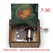 Ponyo on the Cliff Music box Anime Song Gake no Ue no Ponyo Sosuke Movie Custom Hand Wooden metal mo
