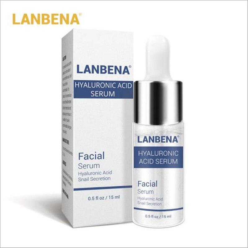 LANBENA Hyaluronic Acid Serum Snail Face Serum Anti Wrinkle Anti Aging Moisturizing Skin Care Whiten