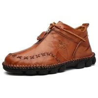 kezzly leather fashion plus size mens boots outdoor fashion mens shoes handmade suture casual shoes