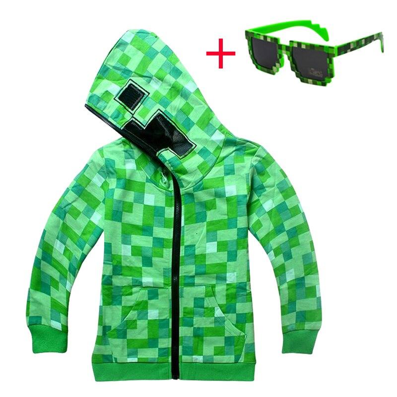 Niños prendas de vestir ropa de invierno de dibujos animados sudaderas de camisa de manga larga Navidad juego niños Creeper chaqueta niños abrigos chaqueta bebé niño