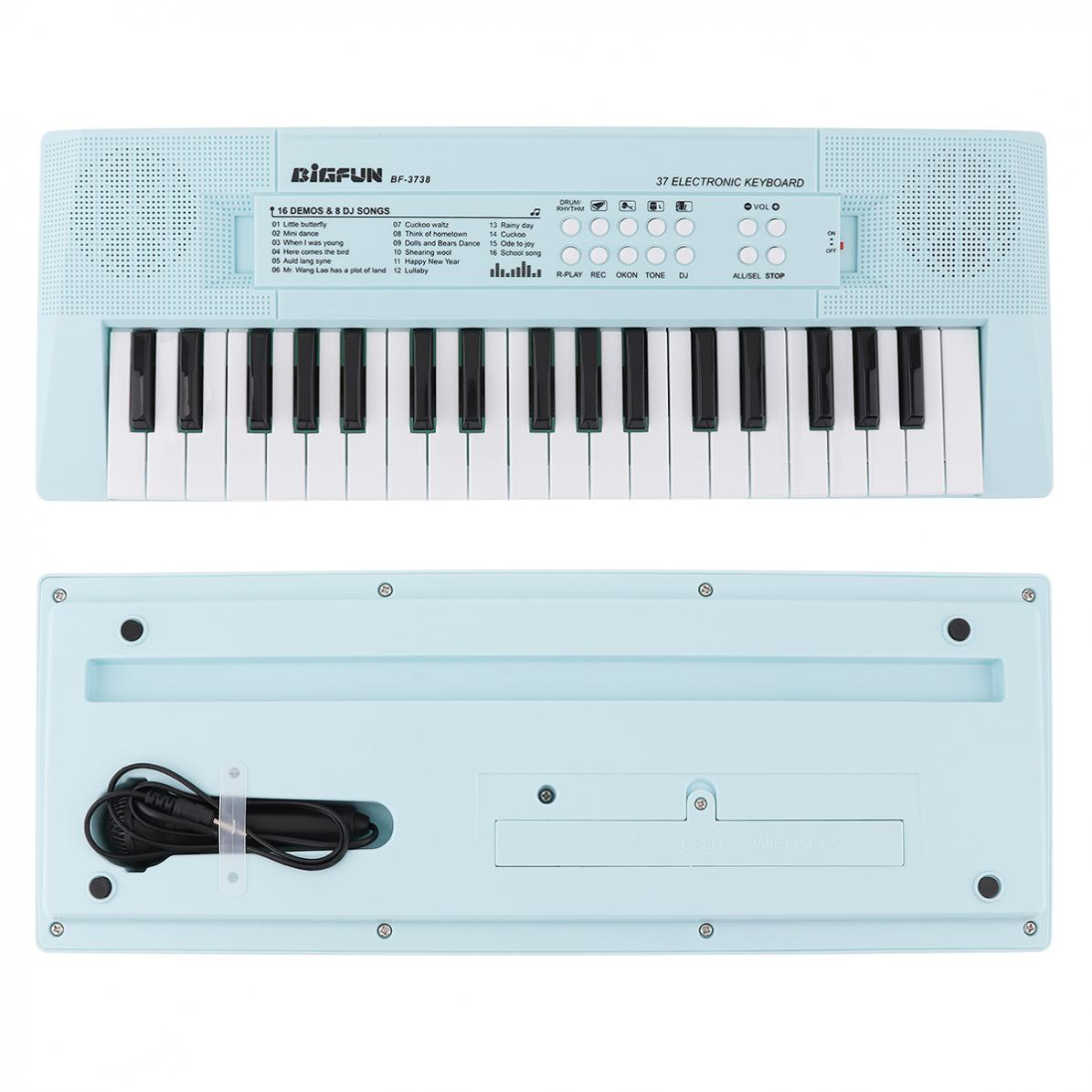 37 Keys Electronic Keyboard Piano Digital Music Key Board with Microphone Children Gift  Musical Enlightenment enlarge