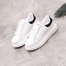 Printemps nouveau Designer compensées blanc chaussures femme plate-forme baskets femmes Tenis Feminino décontracté femme chaussures femme 35-44 taille