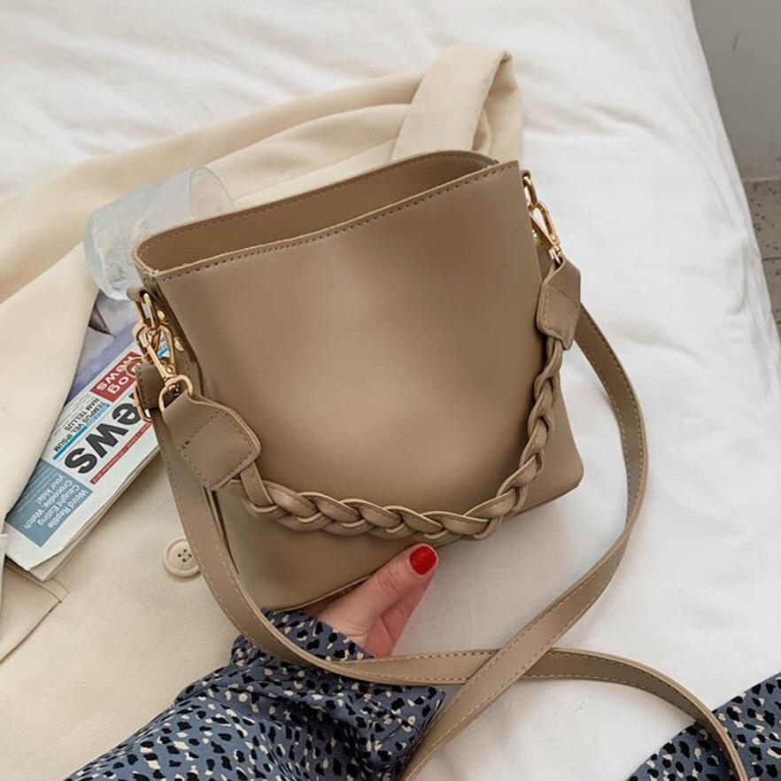 Casual Buckets Bag Designer Women Shoulder Bags Luxury pu Leather Crossbody Bag Travel Beach Messenger Bag Female Handbags