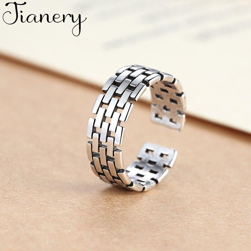 Новые круглые полые кольца JIANERY модного серебристого цвета для мужчин и женщин, Винтажные Ювелирные изделия в стиле бохо, регулируемые коль...