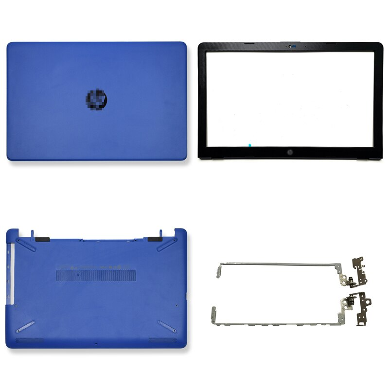 NEW For HP 250 G6 255 G6 15-BS 15T-BS 15-BW 15Z-BW Laptop LCD Back Cover/Front Bezel/LCD Hinges/Bottom Case 924895-001 Blue new for hp 15 bs 15 br 15 bw 15t br 15 bs 15z bw laptop lcd back cover front bezel hinges palmrest bottom case 924899 001