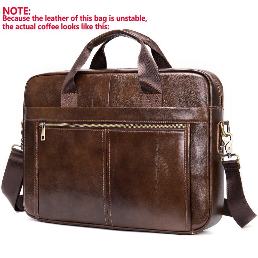 Torba za torbe muška torba muška od prave kože 14 '' torba za - Aktovke - Foto 2