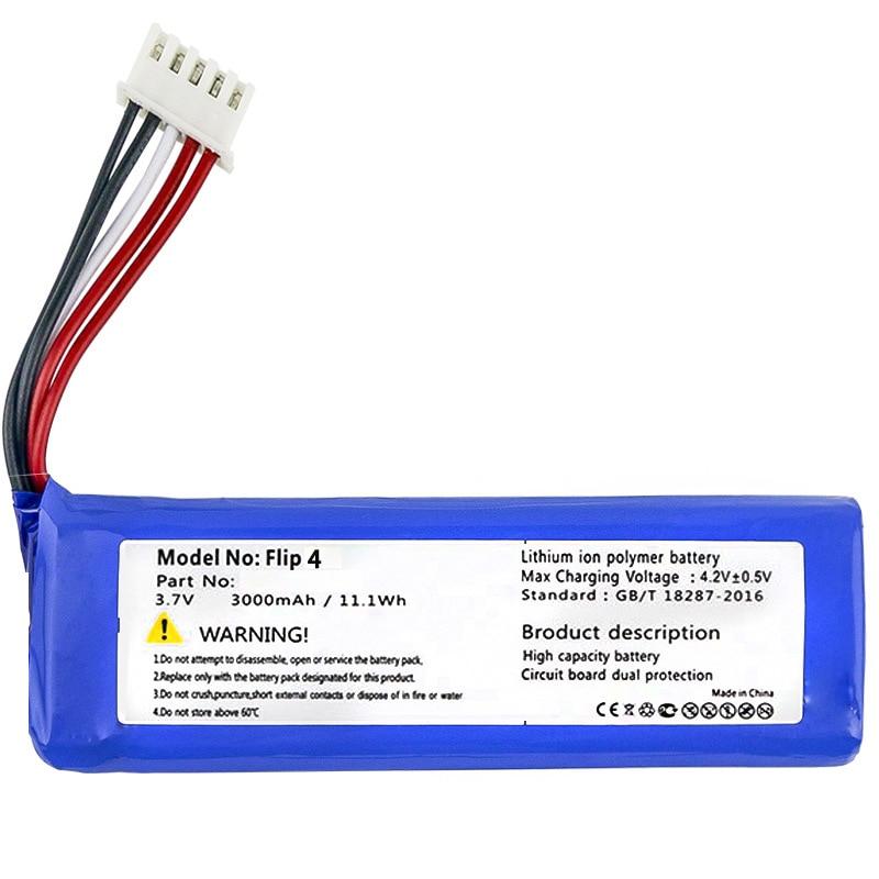 Bateria para Jbl Nova Substituição 3.7v Flip 4 – Edição Especial Bateria Gsp872693 01 3000mah