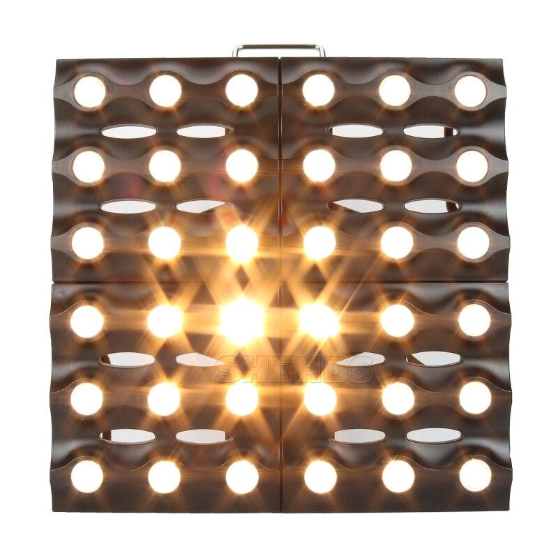 LED Matrix 36x3W لون ذهبي مع تحكم في الإضاءة مع DMX ، مناسب للدي جي ، ديسكو ، حفلة ، ديسكو ، عيد الميلاد