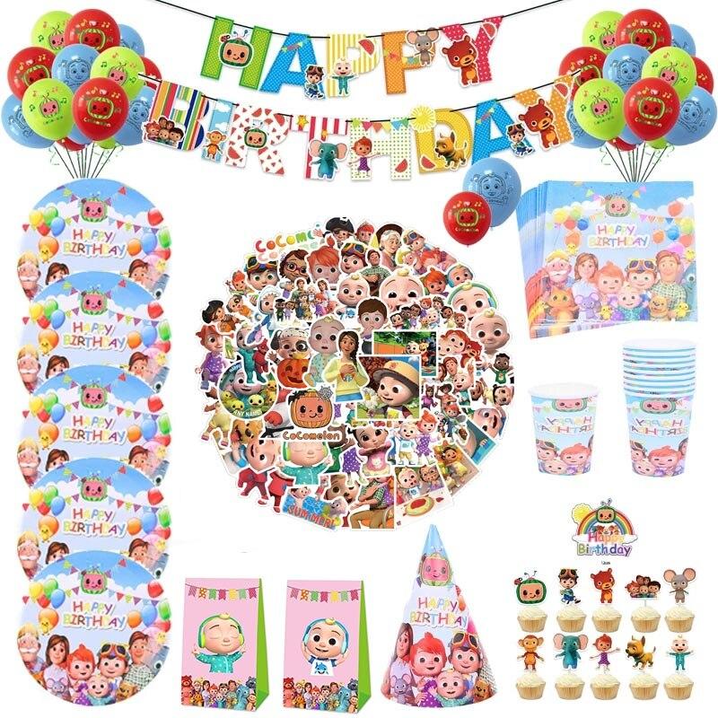 Cocomelon, товары для детского дня рождения, одноразовое искусственное украшение для торта, детский праздник для мальчиков