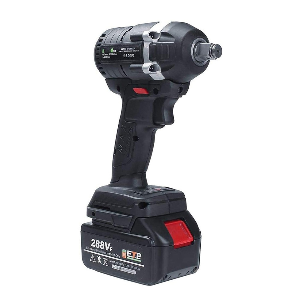 288VF 600NM Max Brushless Impact Wrench Li-ion Battery Brushless Motor Electric Wrench Power Tool With Charger Sleeve