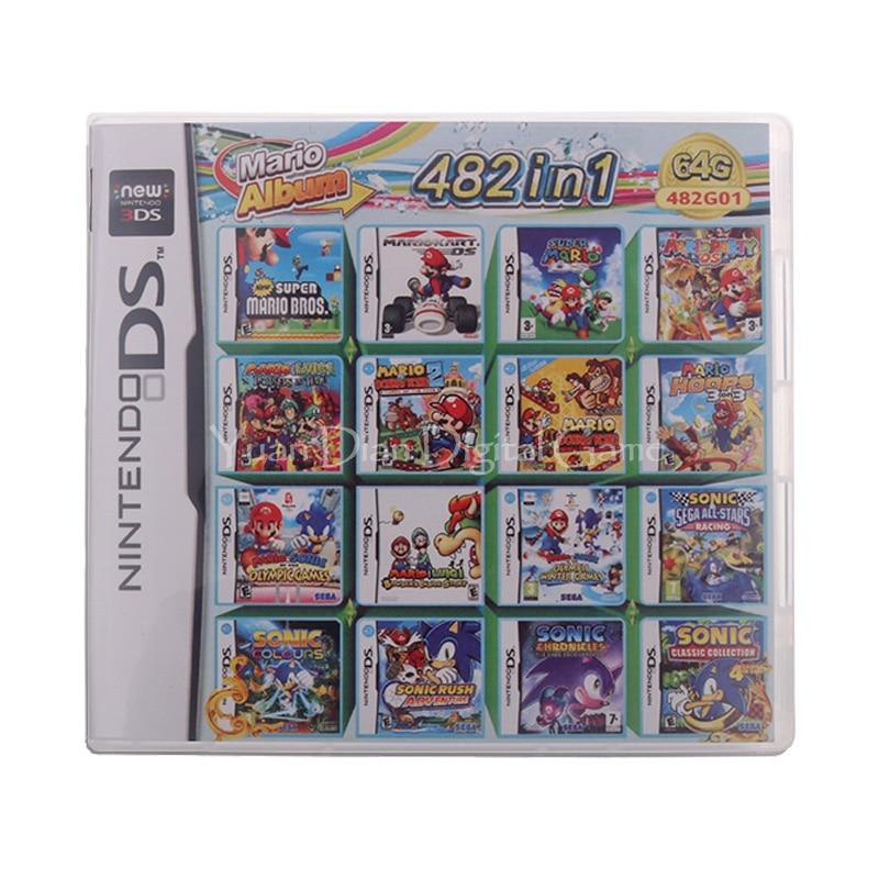 482 en 1, tarjeta tipo cartucho de juego para Nintendo DS 3DS 2DS Super Combo Multi Cart