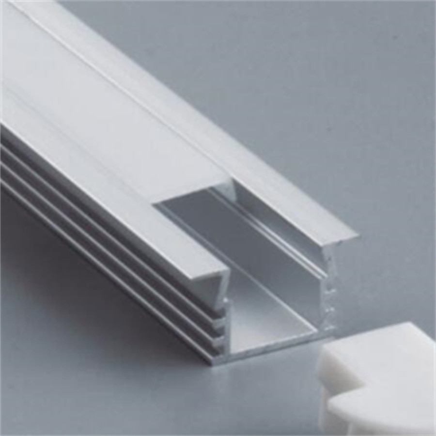 2.5M/PCS Free Shipping 2500mmX22mmX11.7mm Slim Channel Aluminum Profile PC  Housing LED Profile for LED Strip with End Caps