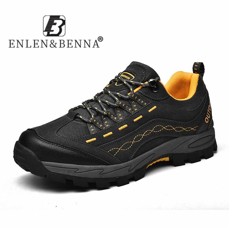 ¡Novedad de 2020! Zapatillas de deporte de primavera y otoño para Hombre, zapatos casuales de exterior para senderismo, zapatos masculinos transpirables de malla cómodos con cordones para Hombre
