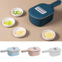 Gemüse Cutter Reibe Mit Lebensmittel Container Runde Griff Scoop Form Kartoffel Karotte Mandoline Slicer Peeler Küche Zubehör