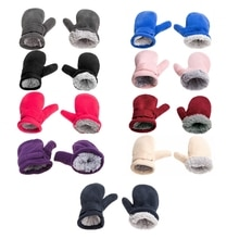 Winter Warm Thicken Baby Gloves Toddler Infant Winter Mittens Lined with Fleece Easy-on Baby Boys Baby Girls Outdoor Mittens