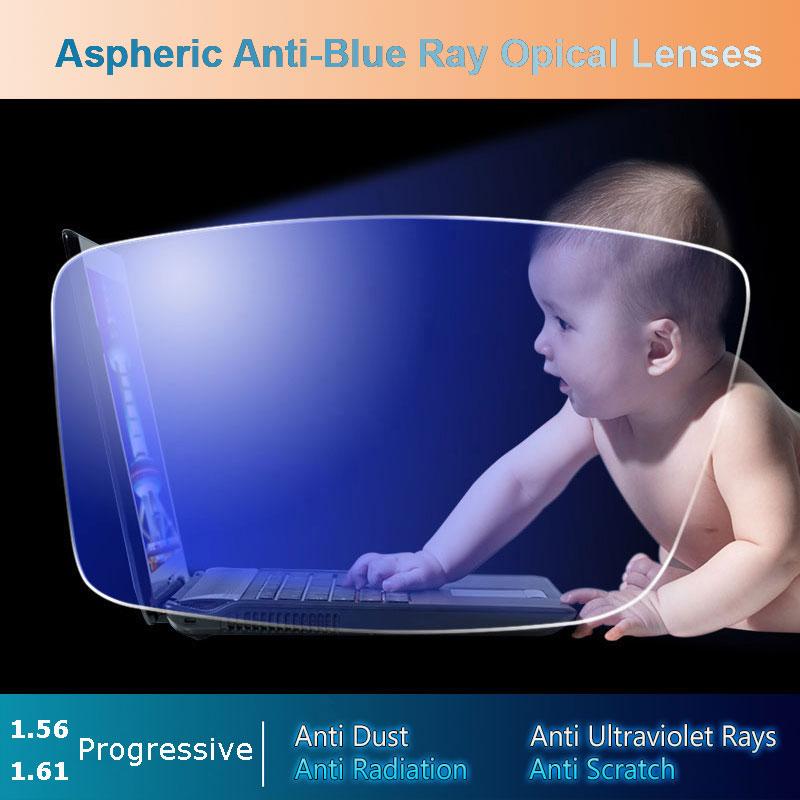عدسة 1.56 / 1.61 مضادة للأشعة الزرقاء شبه الكرومية التقدمية اللونية الرمادية حساس للضوء عدسات طبية سريعة التغير