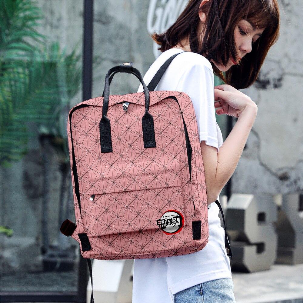 Japan Anime Demon Slayer: Kimetsu No Yaiba Props Students Backpack Travelling bag Model toys schoolbag For Kids