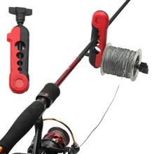 Carrete de línea de pesca portátil, máquina de carrete giratorio y Baitcasting, sistema de estación de pesca, 1 ud.