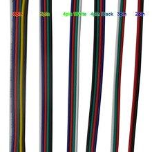 Extension de câble électrique   2 broches 3pin 4pin 5Pin 6pin 22 AWG connecteur par 5050 3528 RGBW RGB CCT Stirp