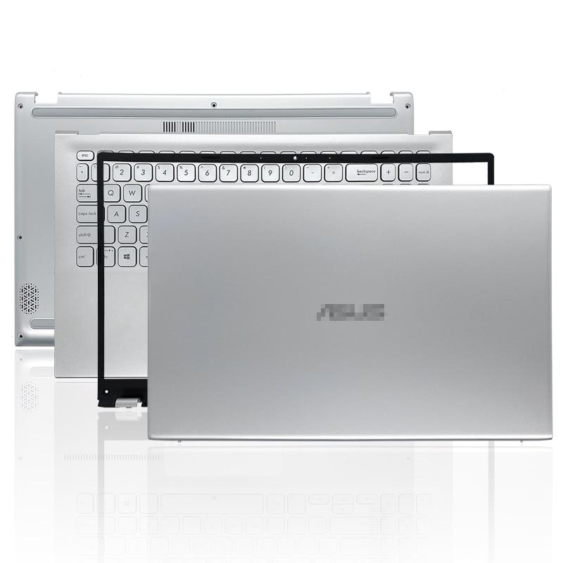 كمبيوتر محمول جديد لـ ASUS VivoBook 15 X512 V5000F حافظة علوية LCD الغطاء الخلفي/الحافة الأمامية/Palmrest/حافظة سفلية/مفصلات 15.6 بوصة