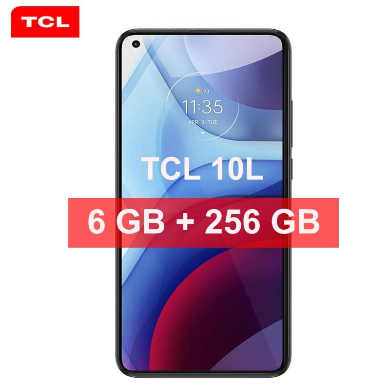 Перейти на Алиэкспресс и купить Игровой смартфон Global Rom TCL 10L Pro, 8 Гб ОЗУ 256 Гб ПЗУ, Snapdragon 4000, Android 11, телефон дюйма