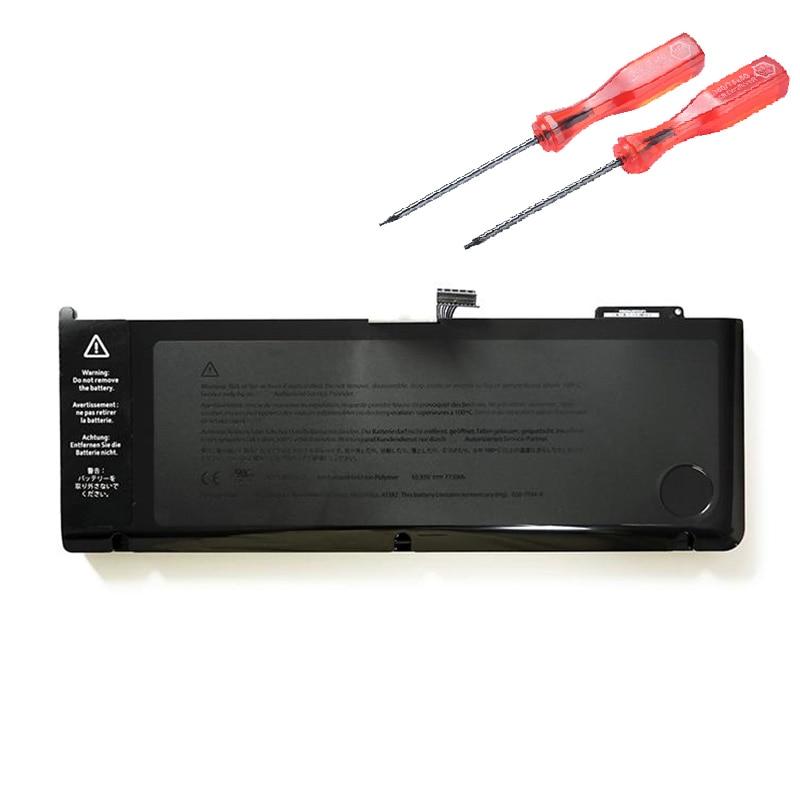 A1382 Оригинальная батарея для MacBook Pro 15 дюймов A1286 ранняя 2011, конец 2011, Mid 2012, MC721LL/A MC723LL 77.5wh 10,95 V