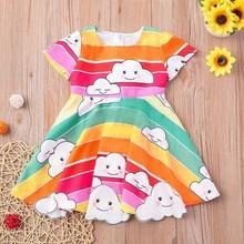 Robe Tutu imprimée de nuage de princesse   Pour nouveau-né fille, ensemble de tenues pour tout petit, livraison directe