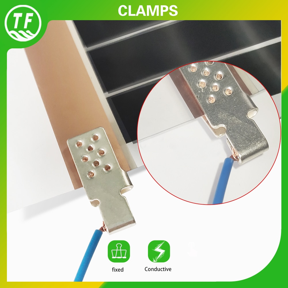 AliExpress - Special Silver Copper Clamps Floor Heating Film Connector Accessories