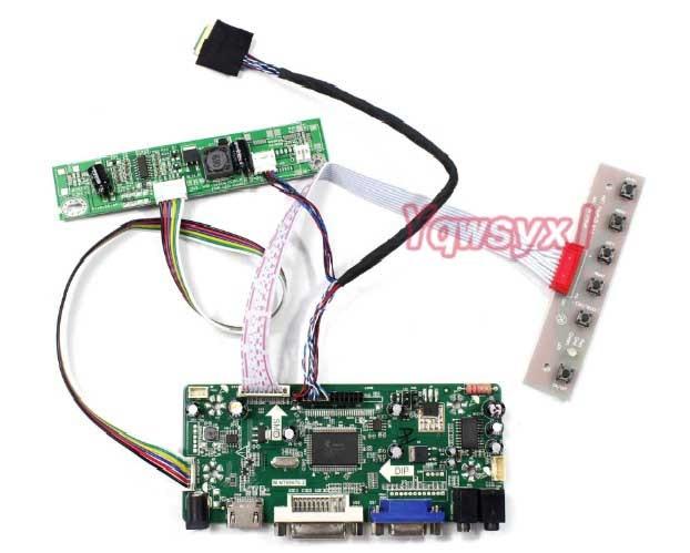 Yqwsyxl комплект для M215HGE-L23 M215HGE L23 HDMI + DVI + VGA светодиодный ЖК-экран драйвер платы контроллера