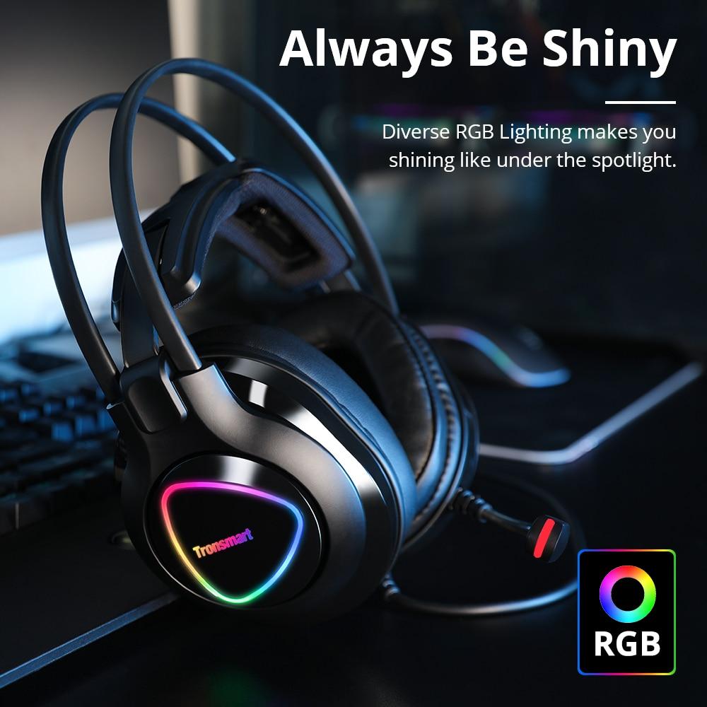 Fones de Ouvido 3.5mm + Porta Usb para Ps4 Original Tronsmart Glary Alpha Gaming Ps4 Gamer Bruxa Computador Portátil