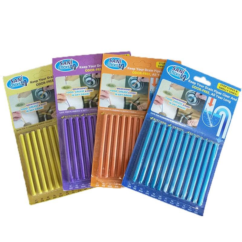 4 colores baño cocina tubo draging cleaner bañera alcantarillado limpieza stick