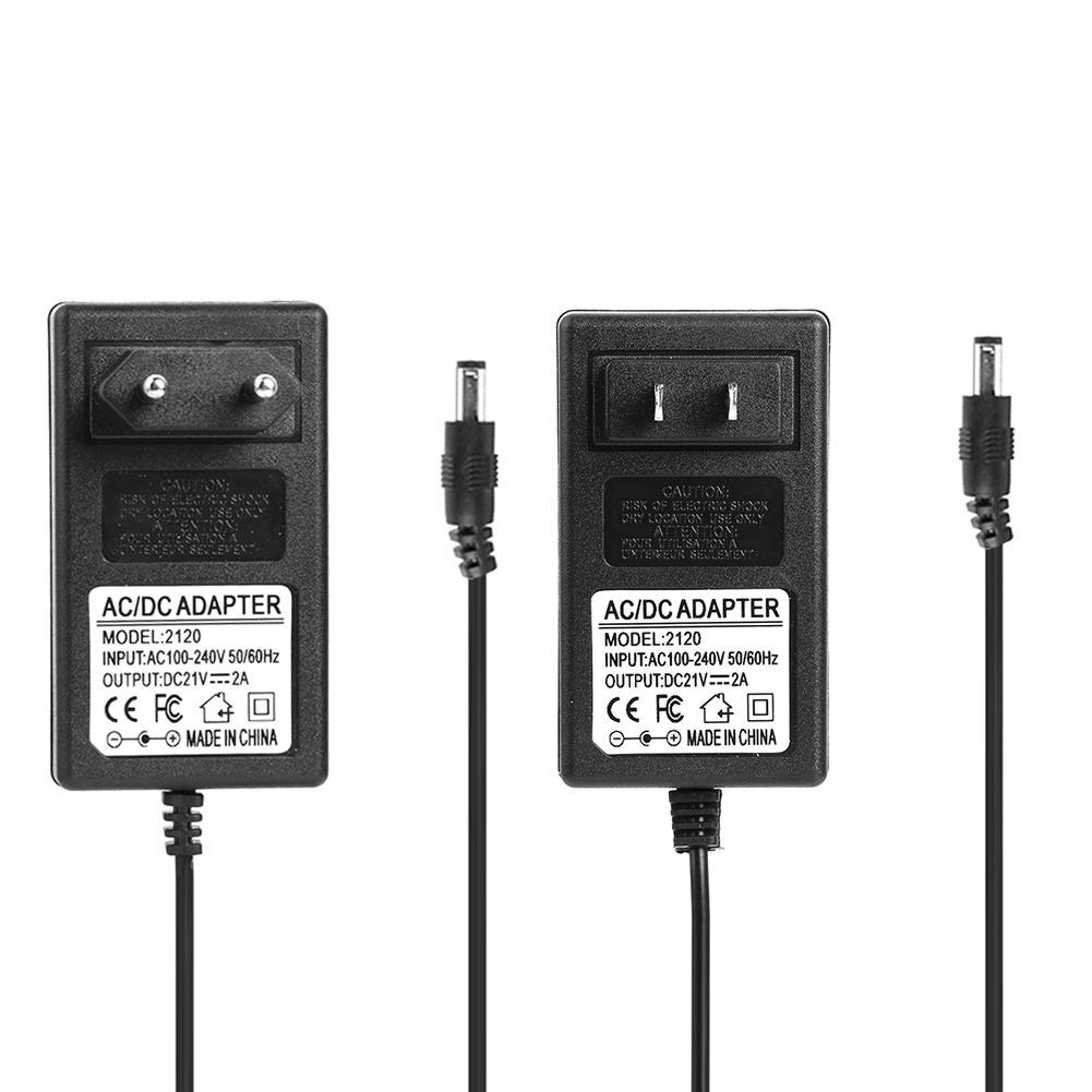 21V 2A 18650 Lithium Battery Charger DC5.5mm US EU Plug Power Adapter Charger for 18490 14650 14514430 Li-ion Battery Pack