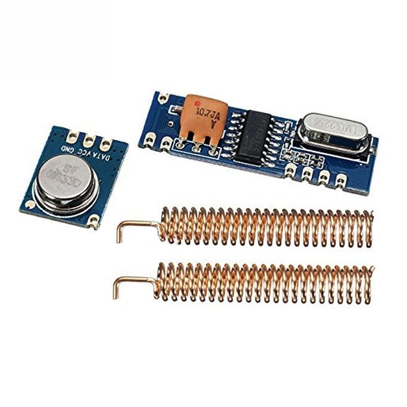 1 conjunto 433 mhz 100 metros kit módulo sem fio perguntar transmissor stx882 + pedir receptor srx882 2 pcs antena de cobre da mola