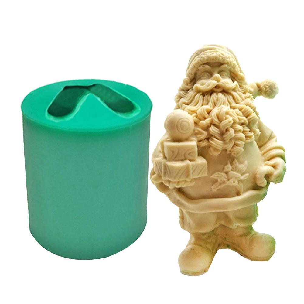 Weihnachten Santa Harz Form 3D Santa Claus Silikon Form Für DIY Figurine Handwerk Aroma Kerze Gips Seife Formen