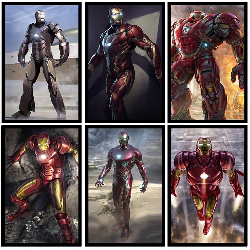 2020 new Superhero Iron Man Movie HD Star Quality Wall Art Home Decor Canvas Painting Art Nordic Decoration Kids Room Poster