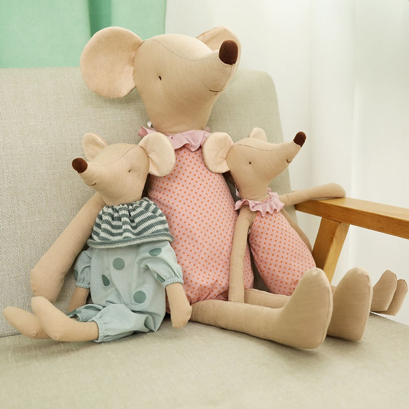 Kawaii Mouse Plush Toys Cute Mice Stuffed Dolls Animals Plush Toy Soft Mouse Doll Baby Sleeping Toy Cloth for Kids Birthday Gift недорого