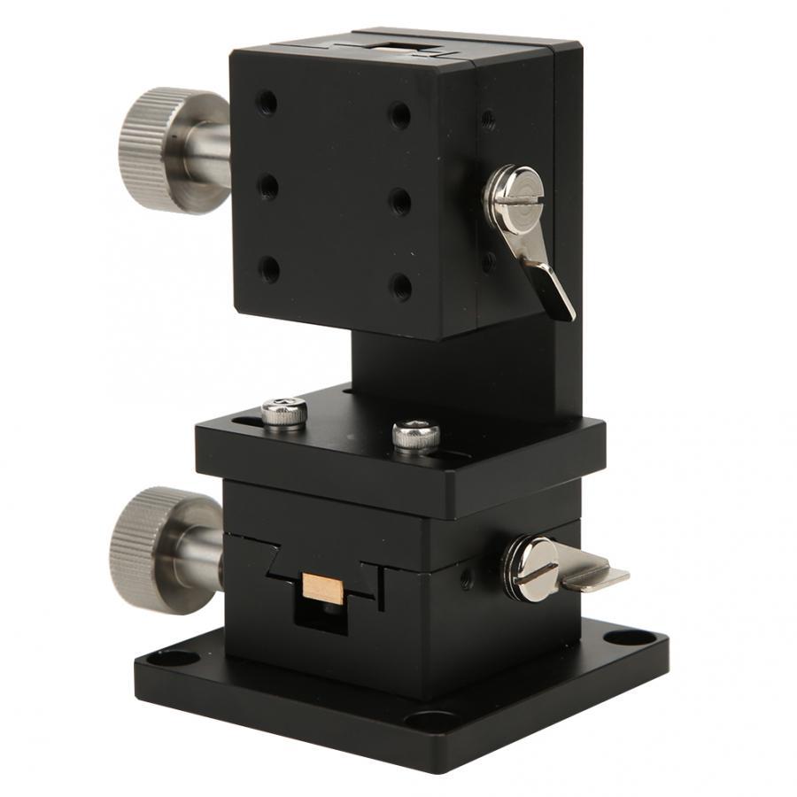 التشذيب محطة النزوح اليدوي منصة الخطي المرحلة انزلاق الجدول قابل للتعديل والعتاد دوران 40x40 مللي متر SPWXZ40-40
