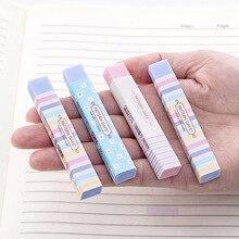 6 sztuk cukierki kolor Hipster kwiatowy pasek gumka mniej okruchy Ultra czysty uczeń gumka hurtownia gumka