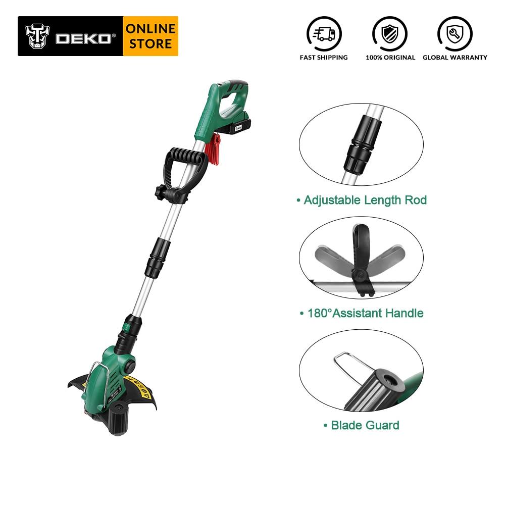 DEKO DKGT06 20V cortadora de césped sin cable eléctrica podar con 1500mAh batería de litio hogar DIY herramientas de jardín