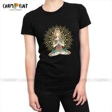Yoga Om Chakra Mindfulness Meditatie Zen Vrouwen T-shirts Yoga Fitness Kawaii T-shirt Ronde Hals Tees Top Punk Kleding Vrouwelijke