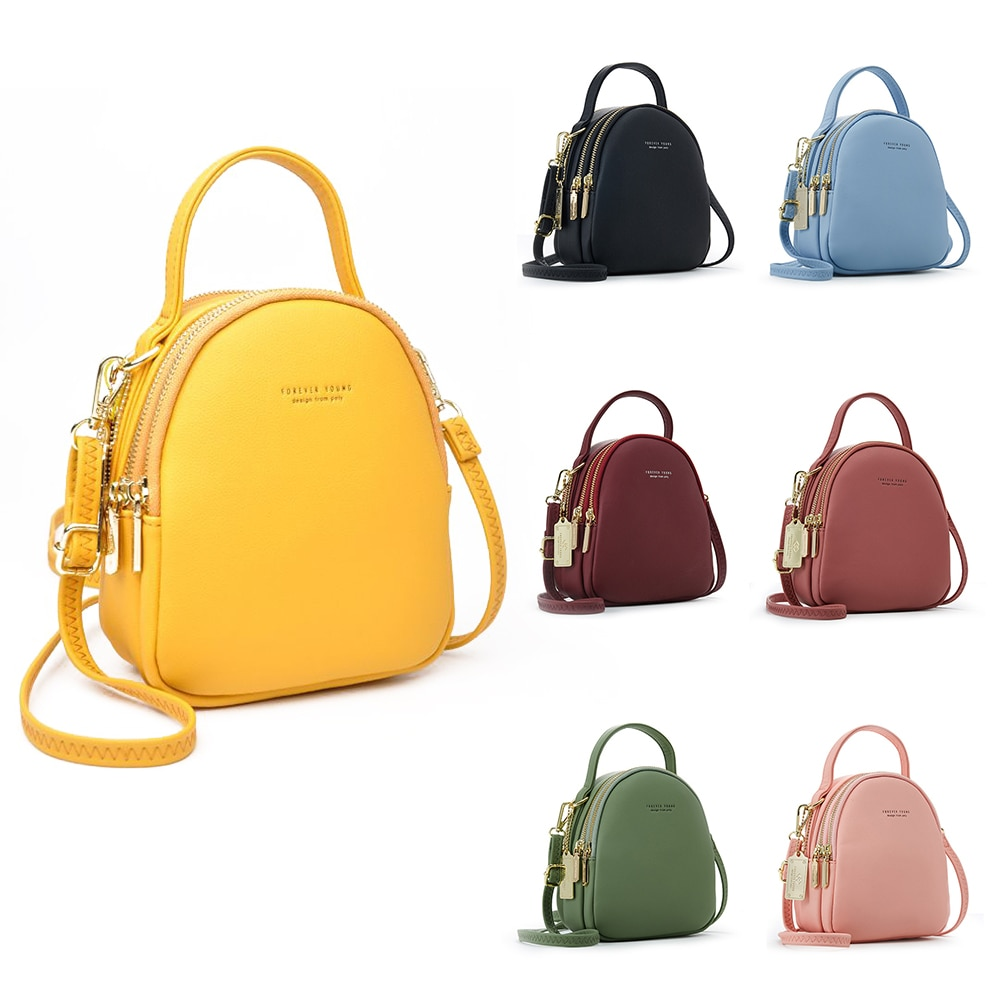 Big Capacity 3 Layer Women Backpack Fashion Small Backpack Ladies Shoulder Crossbody Bag Soft Leather Female Mini