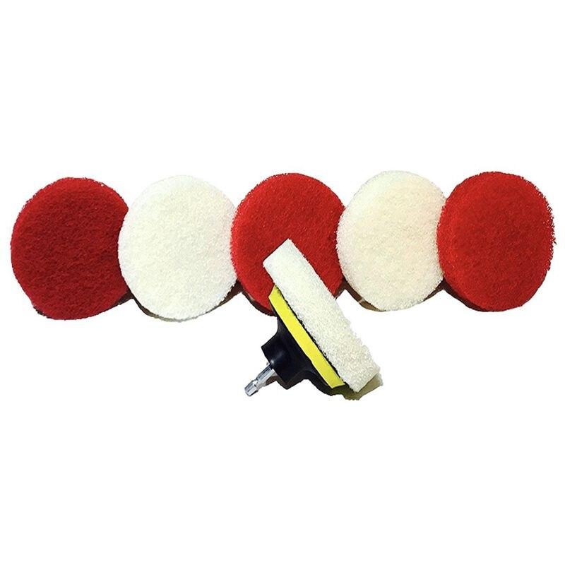 Drill Brush Scrub Pad With Drill Attachment For Tile, Sink, Water Spot, Fiberglass Tub, Vinyl Floor Non-Scratch - Bathroom Scrub