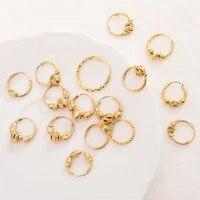 earrings 24k gold color small round hoop earings hoops pircing gold earrings piercings accesories for womengirls jewelry gifts