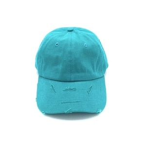 Wholesale in stock 100% cotton multicolor washed cap plain worn out baseball hats and caps Distressed 6 panel dad hat