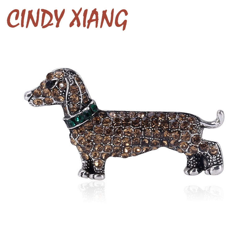 Cindy xiang strass bonito vívido filhote de cachorro broche mulheres e homens unissex cão broche animal